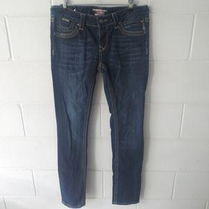 ReRock Express Skinny Dark Wash Jeans Size 6 Reg